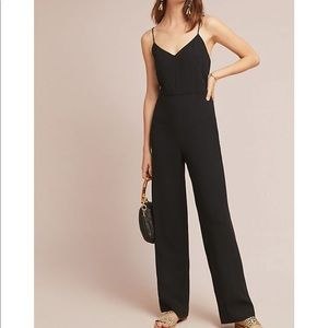 NWT Anthropologie Black Essential Jumpsuit Size 4